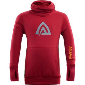 Aclima WarmWool Suéter con capucha Niños, rojo